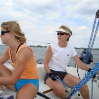 Erin and Maggie - Sailing Course