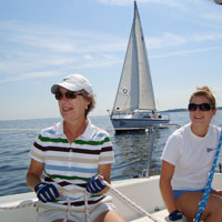 Sailing lessons on the Chesapeake Bay, Maryland